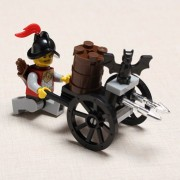 Enlighten Bat Mobile Handcart Knight Castle Series Blocks Toy NO.1004