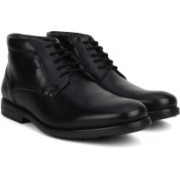 Clarks Hopton Mid GTX Black WLined Lea Boots For Men(Black)