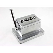 Scorpion Table Top Desk Cigar Cutter Guillotine & V Cut Large 4 Sizes - Silver