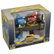 Roboti luptatori in Ring Box jucarie pentru copii Rosu - Albastru + 2 roboti