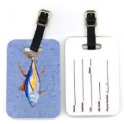 Caroline's Treasures 8535BT 4 x 2.75 in. Pair of Tuna Fish Luggage Tag(Multicolor)