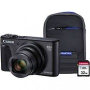 Canon Digital Camera PowerShot SX740 HS 20.3 Megapixel Black + 1 x 32GB SD Card, 1 x Case
