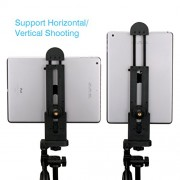 Ulanzi iPad Tablet Tripod Mount Adapter Flexible Adjustable Clamp Tablet Holder for iPad Air Pro,Microsoft Surface and Most Tablets (5inch-12inch Screen)Etc.
