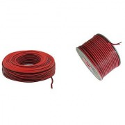 2 Black Red Wire Speaker / Loudspeaker Cable 0.5mm