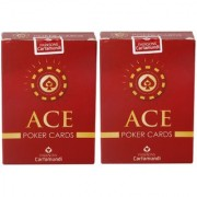 Parksons Cartamundi (Ace Poker) Pure Plastic Playing card for Fun / game / party - Pack of 2