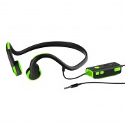 3.5mm Wire-controlled Bone Conduction Headphone Sports Headset for Phone/PC - Green