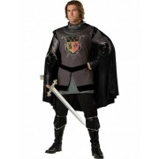 Disfarce cavaleiro medieval preto Homem -Premium
