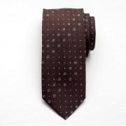 Silk tie Fine Selection 2422 with geometric pattern