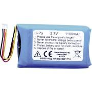 Acumulator Li-Po (litiu-polimer) cu stecar Molex 3,7 V, 1100 mAh, 1Z10116