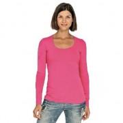 Lemon & Soda Fuchsia roze longsleeve shirt met ronde hals voor dames