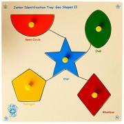 Skillofun Wooden Junior 'Shapes' Shape Tray - Triangle, Multi Color