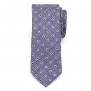 Férfi keskeny nyakkendő (minta 1261) 7966 -ban szürke-kék szín