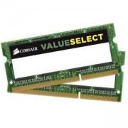 Памет Corsair DDR3, 1333MHz 4GB (2X2GB) 2x204 SODIMM, Unbuffered, CMSO4GX3M2A1333C9