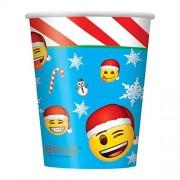 Unique Emoji suministros de fiesta de Navidad, Tazas para estadio, Multicolor, Una talla