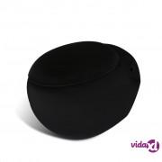 vidaXL Novi zidni WC Crni jedinstven dizajn jaje