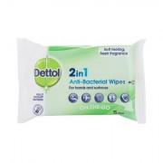 Dettol Antibacterial 2in1 Antibakterielle Tücher für Hände und Oberflächen 15 St. Unisex