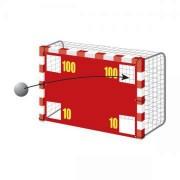 Perete / prelata pentru poarta de fotbal, cu 4 orificii 50 cm, 3 x 2 m