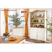 1a Direktimport Mexico Bücherschrank Bücherregal, Pinie weiß / honig, Shabby Landhausstil Möbel