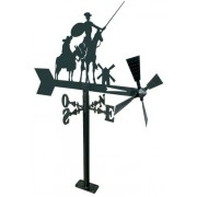 Veleta Jardin de hierro Don Quijote y Sancho 480 mm.