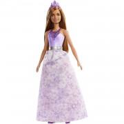 Barbie Dreamtopia - Muñeca Princesa castaña con conjunto morado
