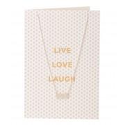 Orelia Kettingen Live Love Laugh Giftcard Zilverkleurig
