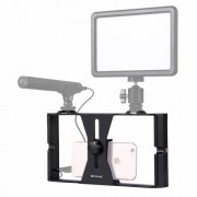 PULUZ Handle Filmmaking Recording Vlogging Rig Case for iPhone Galaxy Huawei Xiaomi HTC LG Google and Other Smarphones