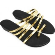 Be You Women Gold Flats