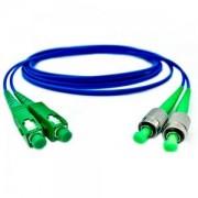 Cordão Óptico Duplex Monomodo FC-APC/SC-APC 2,5m