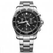 Victorinox Maverick Cronógrafo Reloj de buceo acero inoxidable black-silver