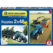 SCHMIDT Puzzles New Holland Tractors Puzzle (48-Piece)