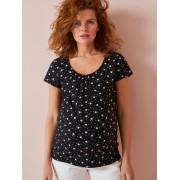 VERTBAUDET T-shirt para grávida, estampado irisado preto medio estampado