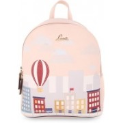 Lavie Pink Medium Backpacks 2.5 L Backpack(Beige)