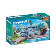 Playmobil Hidrodeslizador com Jaula 9433Multicolor- TAMANHO ÚNICO