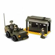 Stavebnice Sluban Army Jeep a strážnice M38-B6100
