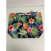 leuke tas - met ananas&bloemenprint