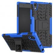 Capa Híbrida Antiderrapante para Sony Xperia XA1 Plus - Azul / Preto