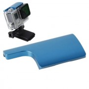 Maxy $$ Back Door Clip In Alluminio Per Chiusura Case Per Gopro Hd Hero 3 Plus / 4 Blu