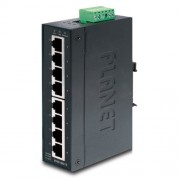 PLANET IP30 Slim Type 8-Port Industrial Fast Ethernet Switch (-40 to 75 degree C)