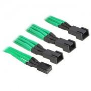 Cablu adaptor BitFenix Alchemy 3-pini la 3x 3-pini, 60cm, green/black, BFA-MSC-3F33F60GK-RP