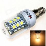 ZHISHUNJIA E14 6W 540lm 3000K 27-SMD 5050 LED Lampara Blanca Caliente - Blanco + Gris Plateado (AC 85 ~ 265V)