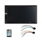 EY Doble DIN De 7 Pulgadas Pantalla Coche DVD MP5 Bluetooth Manos Libres Con Pantalla Táctil HD-Negro