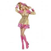 Merkloos Gouden pimpette dames jasje 40 (L) - Carnavalskostuums