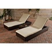 2x Sonnenliege, Relaxliege, Gartenliege mit Tisch ~ Variantenangebot