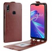 Asus Zenfone Max Pro (M2) ZB631KL Vertical Flip Case - Brown