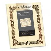 Foil-Enhanced Parchment Certificate, Ivory W/bronze Foil, 8 1/2 X 11, 15/pack