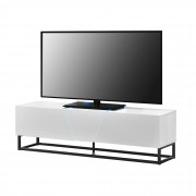 Шкаф за TV [en.casa]® LED осветление, Бял