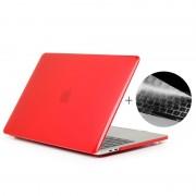 Apple MacBook Pro 15.4 inch met Touchbar (A1707 - US versie) 2 in 1 Kristal patroon beschermende Hardshell ENKAY Hat-Prince behuizing met ultra-dun TPU toetsenbord Cover (rood)