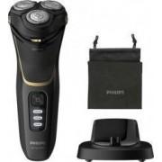 Aparat de ras Philips Shaver series 3000 S3333/54 Autonomie 60 min Lame PowerCut Capete Flex Negru