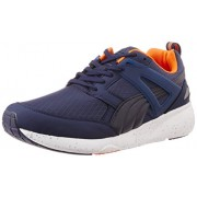 Puma Unisex Aril Modern Tech Peacoat and Vermillion Orange Running Shoes- 7 UK