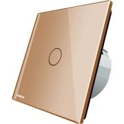Intrerupator simplu Livolo cap scara wireless Auriu